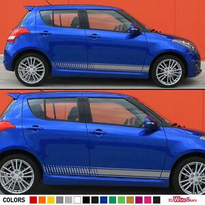 Kit De Rayas laterales Pegatina Calcomanía Para Suzuki Swift S 2004-2017 SZR Bonnet faldas de labios