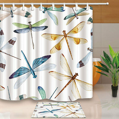 """Dragon Fre With Black Fantastic Bathroom Fabric Shower Curtain With Hooks 71/"""""""
