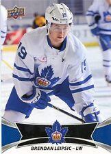 16/17 UPPER DECK AHL SP #124 BRENDAN LEIPSIC TORONTO MARLIES *30893