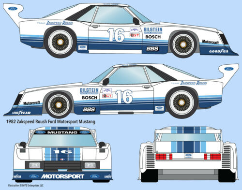 #16 Zakspeed//Roush Ford Mustang Kevin Cogan Klaus Ludwig water transfer decals