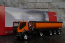 HERPA Modell 1:87//H0 Bau Iveco Trakker 4x4 Thermomulden-Sattelzug orange #311373
