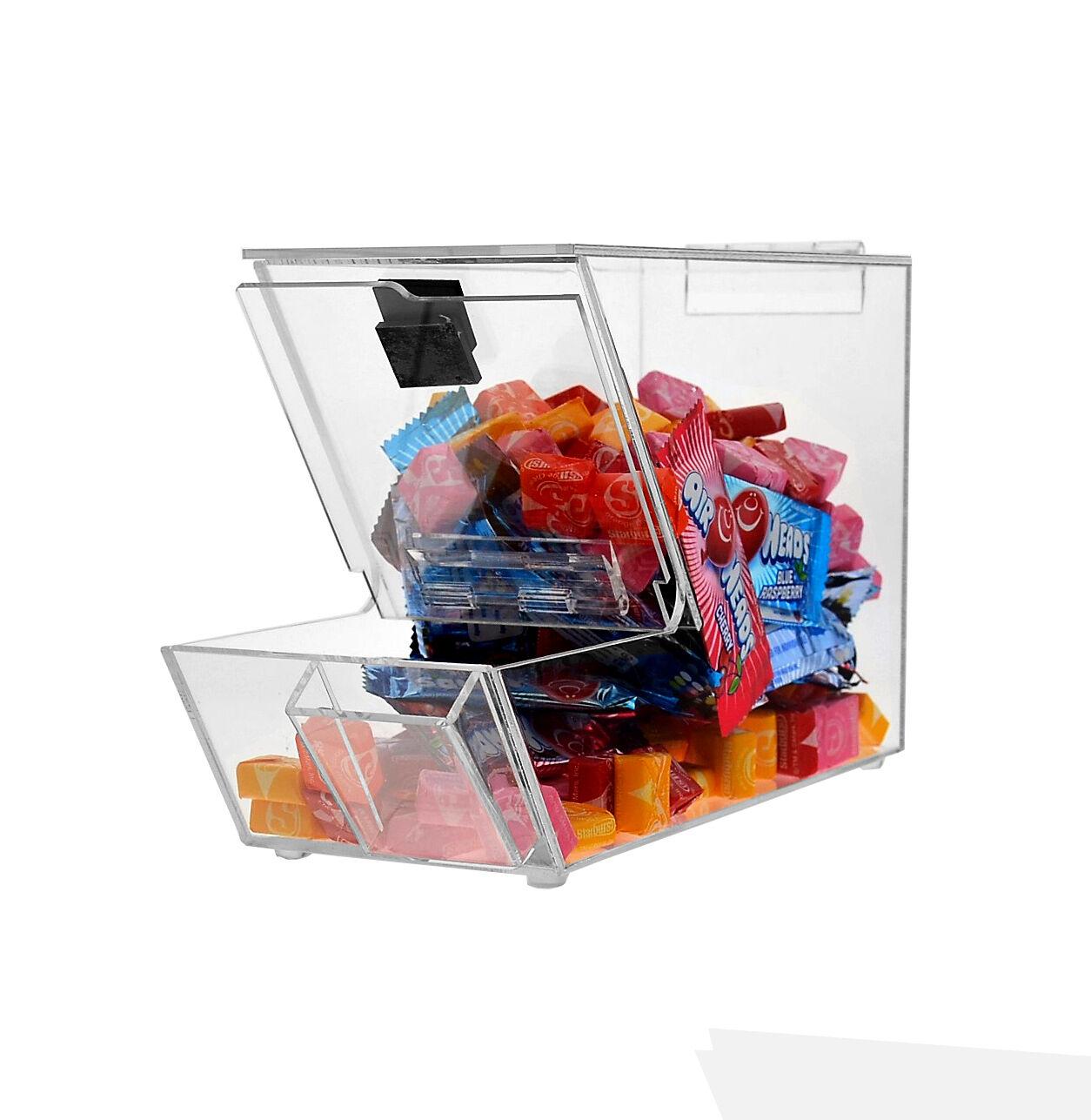 Acrylique CANDY Bin, sec Foods, Haricots, jouets bacs Holder Display Box Comptoir Avec