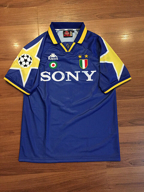 JUVENTUS RETRO SHIRT UCL FINAL 1996, DEL PIERO, RAVANELLI, Sizes S M L XL