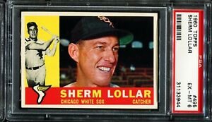 1960-Topps-495-SHERM-LOLLAR-Chicago-White-Sox-PSA-6-EX-MT