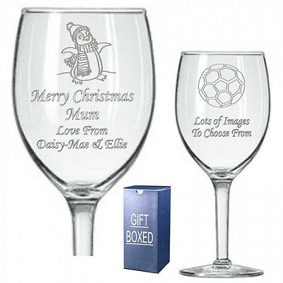 Engraved Wine Glass Brother Sister Niece Christmas Birthday Gift 073
