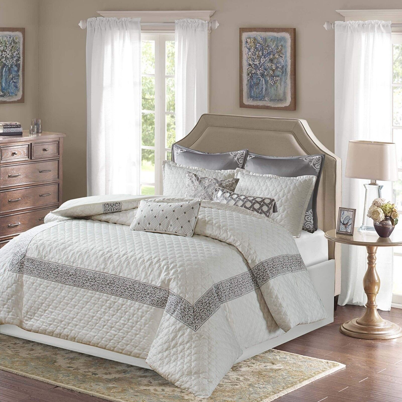 BOMBAY EMERSON QUILT STYLE COMFORTER SET