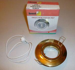 90mm-Hole-Cut-75mm-Twist-Lock-Curved-Tilt-Low-Voltage-Downlights-Gold-Chrome