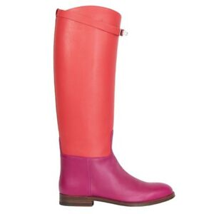 pink riding boots