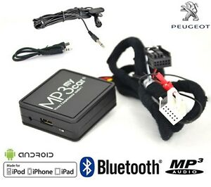 Interface-Bluetooth-Auxiliaire-MP3-Autoradios-Origine-Peugeot-RD4-apres-2006