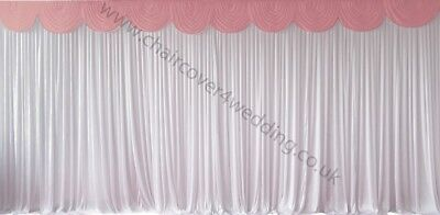 3m Mauve Detachable Swag For Wedding Backdrops,cake And Top Table Skirts Zonder Terugkeer