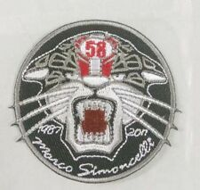 *NEW* Marco Simoncelli 'Cat' remembrance patch / badge. Super Sic, 58, Moto GP.