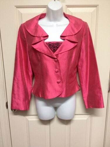 Taille 6 Soie Pink Blazer 100 Pageant Banu Interview Veste Sportswear Euc Paris ZzP8Tq8