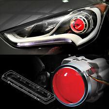 Devil Eye Head Light Projector Lens Red LED Module For HYUNDAI 2011-17 Veloster