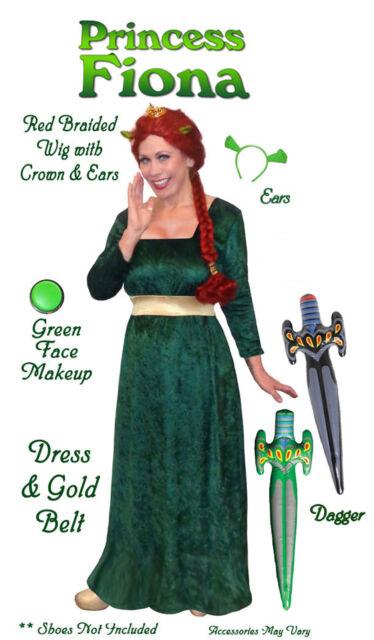 Princess Fiona Shrek PLUS SIZE Costume S-XL1x 2x 3x 4x 5x 6x 7x 8x 9x FREE SHIP!