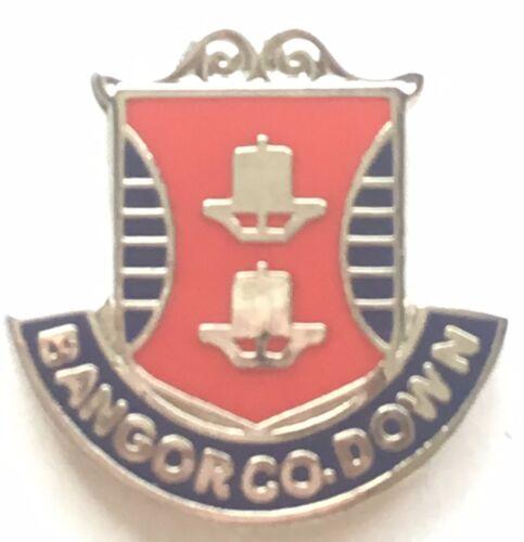 Down Ireland Small Quality enamel lapel pin badge T153 Bangor Co