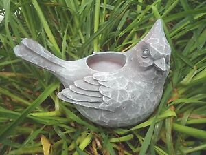 "latex w plastic backup bird candleholder plaster concrete mould 5.5"" x 4.5"""