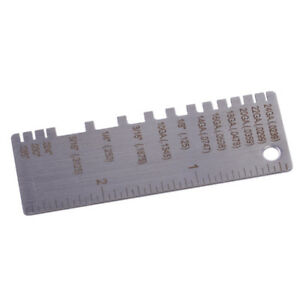 wire metal steel sheet thickness gauge welding gage plated size inspection tools ebay. Black Bedroom Furniture Sets. Home Design Ideas