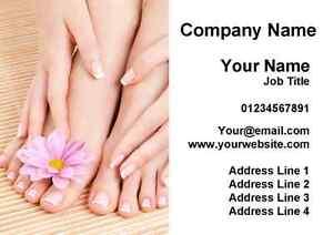 Ongles Pedicure Manucure Salon Cartes De Visite Personnalisees