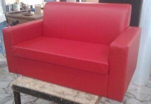 Divano Rosso Ecopelle : Divano due 2 posti divanetto rosso tessuto ecopelle sofà poltrona