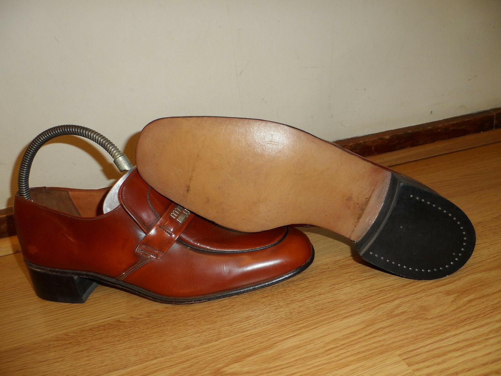 STEWARTS NORTHAMPTONSHIRE ENGLAND ( CAVALIER )  MENS BROWN SHOES 9.5 / EUR 43.5