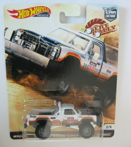 1980 Dodge macho power wagon Hot Wheels Desert Rally Car Culture 1:64 OVP RR
