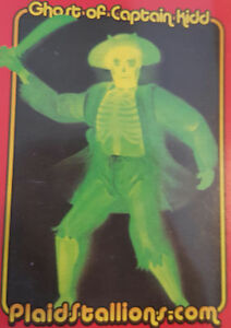 Mego-Museo-Tartan-Sementales-Promo-Carta-Caja-de-Cerillas-Ghost-Of-Captain-Kidd