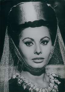Actrice-Sophia-Loren-dans-034-LA-Chute-de-l-empire-Romain-034-1963-vintage-silver-pr