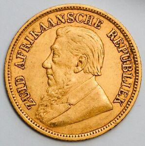 1896 SOUTH AFRICA Boer Republic Gold Kruger Half Pond - Half Sovereign Weight