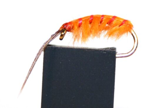ICE FLIES Nymph Marflo Orange // scud . 4-pack Available in size 8-14