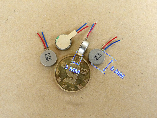 5pcs 9x3mm DC3V Mobile Phone Vibrating Motor Flat Coin Vibration Vibrator Motor