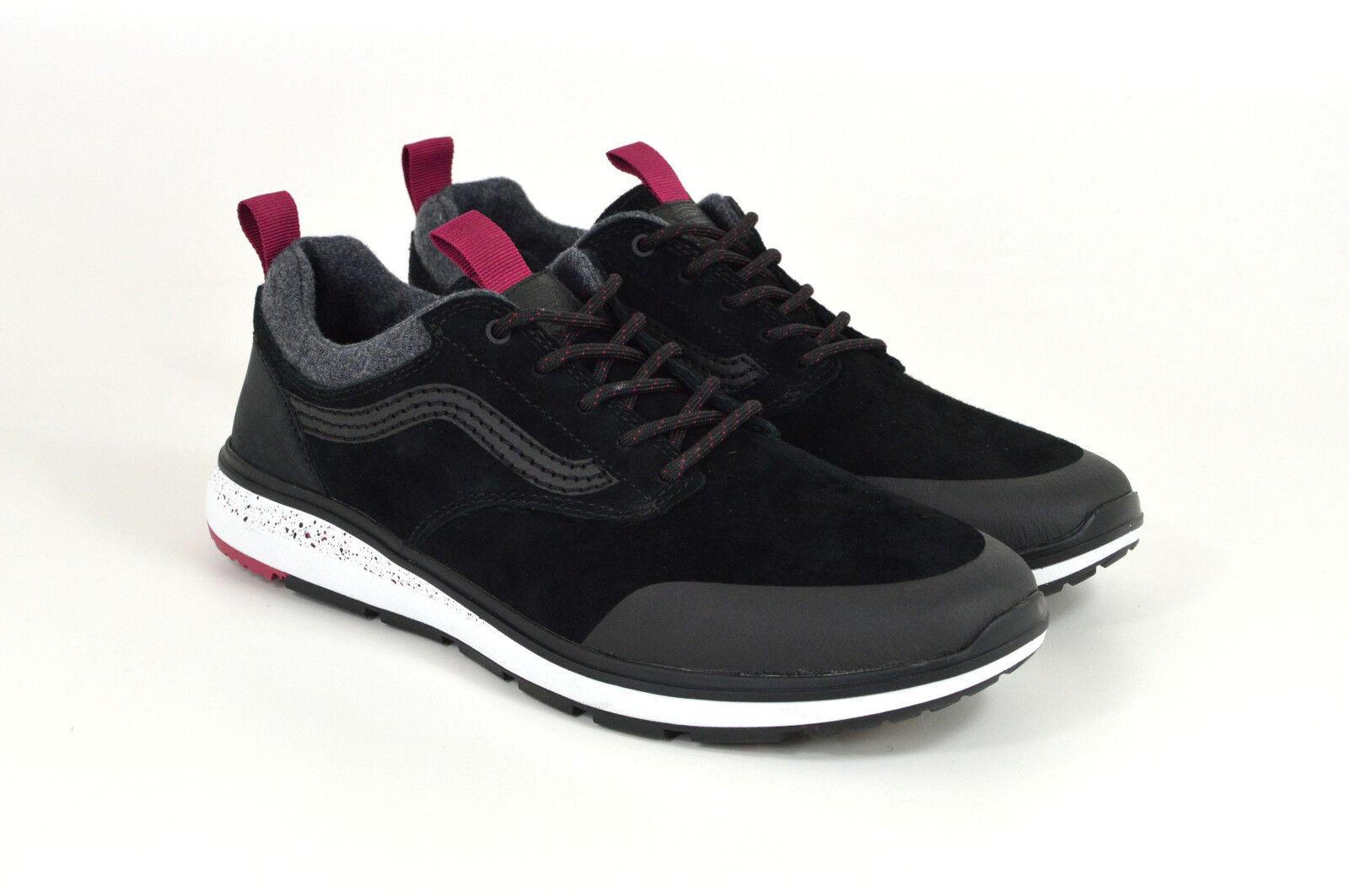 Vans, Iso 3 MTE, Sneaker, schwarz/Beet ROT, Schwarz/Grau/Rot, Veloursleder, Neu