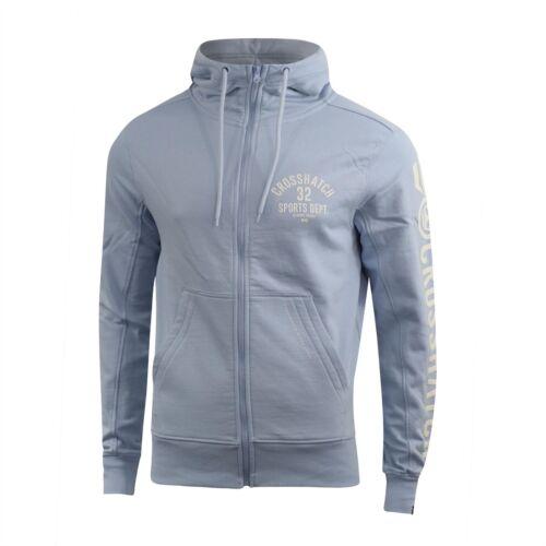 Mens Crosshatch Hoodie Full Zip Hoody Pullover Sweatshirt