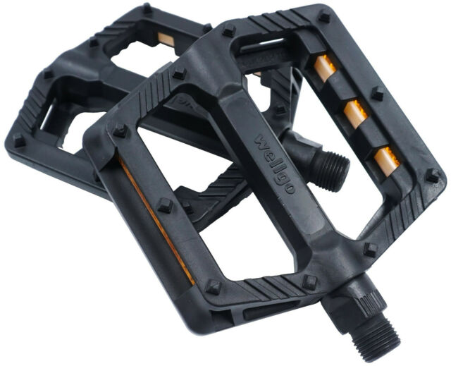 "Wellgo Nylon Composite Flat Platform Pedals MTB BMX Bike 16-Pin Sealed 9//16/"""