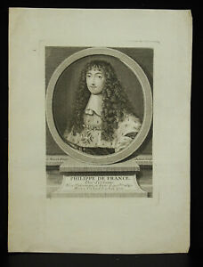 Gravur-Philippe-aus-Frankreich-Duc-D-039-Orleans-orden-Du-st-Spirit-Nocret-Aubert