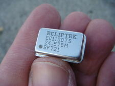Lot Fifty 50 24576 Mhz Ecliptek Crystal Oscillators New And Unused