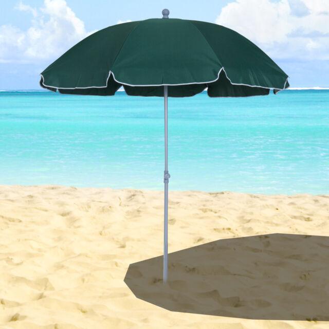 Outdoor Beach Umbrella Hawaii 1.8m Sun shade w// Carry Bag Tilt Pool Blue Aztec