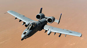 "A-10 WARTHOG THUNDERBOLT MILITARY JET  24/"" x 43/""  LARGE HD WALL POSTER PRINT"