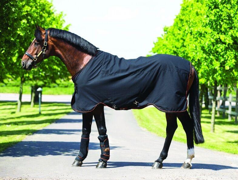 Horseware Rambo Ionique stable Sheet circulation Oxygénothérapie Tapis noir 3' 9-7' 3