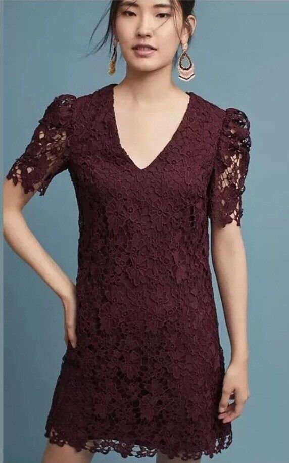 women Morgan Edith Lace Tunic Dress Size Size Size 12 NWT Retail  198 d51c57