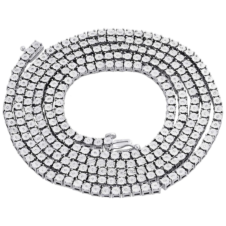 1 Riga Collana Diamante Vero Catenella con Maglie da da da Uomo ac38e5