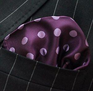 50f42e07d8b74 Image is loading Hankie-Pocket-Square-Handkerchief-Purple-with-Mauve-Spot