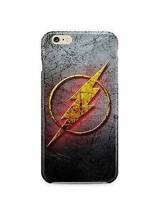 Iphone-4s-5-5s-5c-6-6S-7-8-X-XS-Max-XR-Plus-Hard-Cover-Case-Flash-Hero-Logo-DC
