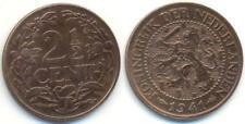 Niederlande 1941, 2 1/2 Cent, Königin Wilhelmina, Kupfer