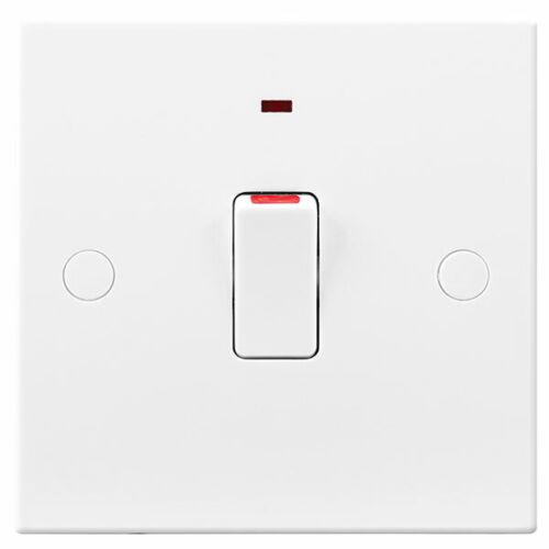 BG Général britannique 20 A Double Pôle Neon mur Interrupteur Indicateur de puissance