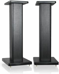 "9HORN 24"" Wood Speaker Stands 1 Pair Black Mount for HiFi MDF Bookshelf Speakers"