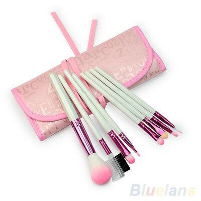 8 Pcs Nice Chic Pro Makeup Brushes Set Eyeshadow Cosmetic Brush Kit + Pink Case