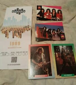 KISS-2-Proset-cards-Ace-FREHLEY-brockum-cards-ticket-stub-FREE-SHIPPING