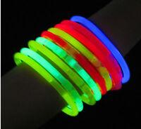 100 8 Glow Sticks Bracelets Light Neon Colors Party Favors