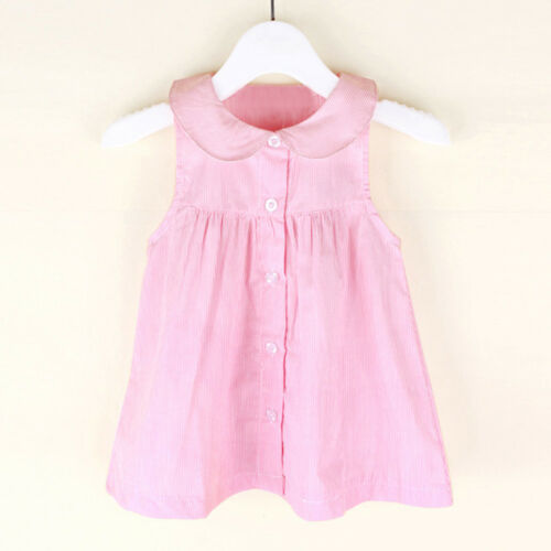 Summer Toddler Kids Baby Girl Princess Dress Party Sleeveless Casual Sundress