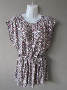 MISS-SELFRIDGE-Ladies-Black-Floral-Open-Back-Short-Playsuit-Jumpsuit-Size-10